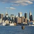 Stock Photo: New York City Uptown skyline at afternoon
