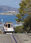 San Francisco-USA, November 2nd, 2012: The Cable car tram. The S — Stock Photo
