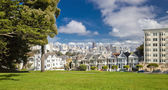 SAN FRANCISCO, USA - NOVEMBER 1, 2012: Painted Ladies — Stock Photo