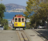 SAN FRANCISCO - NOVEMBER 2012: The Cable car tram, November 2nd, — Stok fotoğraf