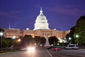 US Capitol in the night — Stock Photo