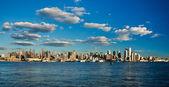 нью-йорк сити uptown скайлайн — Стоковое фото