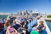 NEW YORK - The open deck Governors Island Ferry — Stock Photo