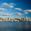 The New York City Uptown skyline — Stock Photo