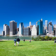 BROOKLYN, NYC - Manhattan from Brooklyn Bridge Park — Stock Photo