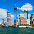 new york city downtown w the freedom tower — Stock Photo