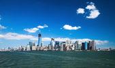 纽约城市市中心 w 自由塔 — 图库照片
