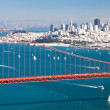 San Francisco Panorama w the Golden Gate bridge — Stock Photo #31781801