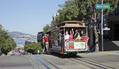 SAN FRANCISCO - NOVEMBER 3: The Cable car tram, November 3rd, 20 — Stock Photo
