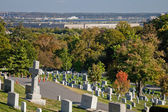 WASHINGTON DC - OCT 16: Rows and columns of US soldier's tombsto — Stock Photo