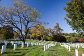 WASHINGTON DC - OCT 16: Rows and columns of US soldier's tombsto — Стоковое фото