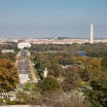 Washington DC panorama - Aerial view of Arlington Hill — Stock Photo #35038237