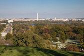 Washington DC panorama - Aerial view of Arlington Hill — Stock Photo