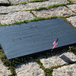 John F Kennedy Gravestone at Washington Memorial, Arlington Ceme — Stock Photo