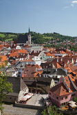 CESKY KRUMLOV, CZECH REPUBLIC, AUGUST 21, 2012: The St. Vit Chur — Stock Photo