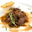 Stock Photo: Venison ragout with dumpling
