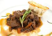 Venison ragout with dumpling — Stock Photo