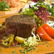 Beefsteak Mexican style — Stock Photo
