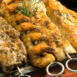 Grilled fish meat — Stockfoto