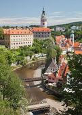CESKY KRUMLOV - AUGUST 21, 2012: The Castle and City. The castle — Stock Photo