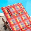 Detail of Wooden deckchair — Stock Photo