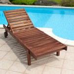 Wooden deckchair — Stock Photo #36921773