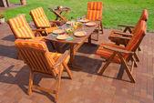 Luxury Garden furniture — Stock Photo