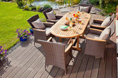 Luxury rattan Garden furniture — Stock Photo