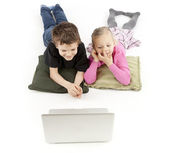 Children watching the Laptop — Stock Photo