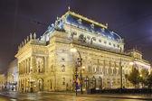 Praga, república checa, el teatro nacional — Foto de Stock