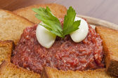 Steak tartar — Stockfoto
