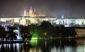 Prague Castle in the night — Stock Photo