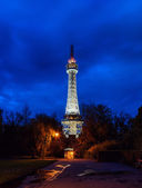 Prague Lookout Tower with the night illumination — Stock Photo