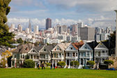 SAN FRANCISCO, USA - NOVEMBER 1st, 2012: Painted Ladies in San F — Stock Photo