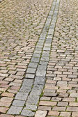 Old cobblestone street in Prague — Stock Photo