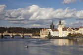 Prague, Czech Republic, Novotny Lavka at Old City — Stock Photo