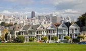 Painted Ladies Victorian houses, San Francisco, USA — Stock Photo