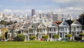 SAN FRANCISCO, USA - NOVEMBER 1st, 2012: Painted Ladies in San F — Stock Photo