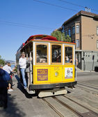 SAN FRANCISCO - NOVEMBER 3rd: The Cable car tram, November 3rd,  — Stockfoto