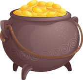 The mythical pot of gold — Stock Vector