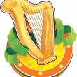 Stock Vector: St.Patrick's Day symbol. Irish Harp