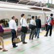 Waiting for shinkansen bullet train — Stock Photo #18394261