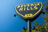 Beverly Hills sign in Los Angeles close-up view — 图库照片