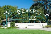 Signe de beverly hills dans le parc de los angeles — Photo