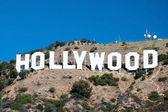 Hollywood znak u góry santa monica w los angeles — Zdjęcie stockowe