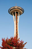 Space Needle in Seattle during the sunset — Stock Photo