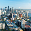 Seattle downtown skyline with view of Mt.Rainier in distance — Stock Photo #19779169