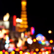 Abstract blurred background of Eiffel tower on Las Vegas Strip — Stock Photo