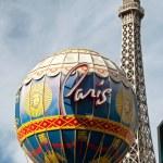Eiffel Tower restaurant and Montgolfier Balloon on the Las Vegas — Stock Photo