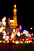 Abstract blurred background of Eiffel tower on Las Vegas Strip — Photo